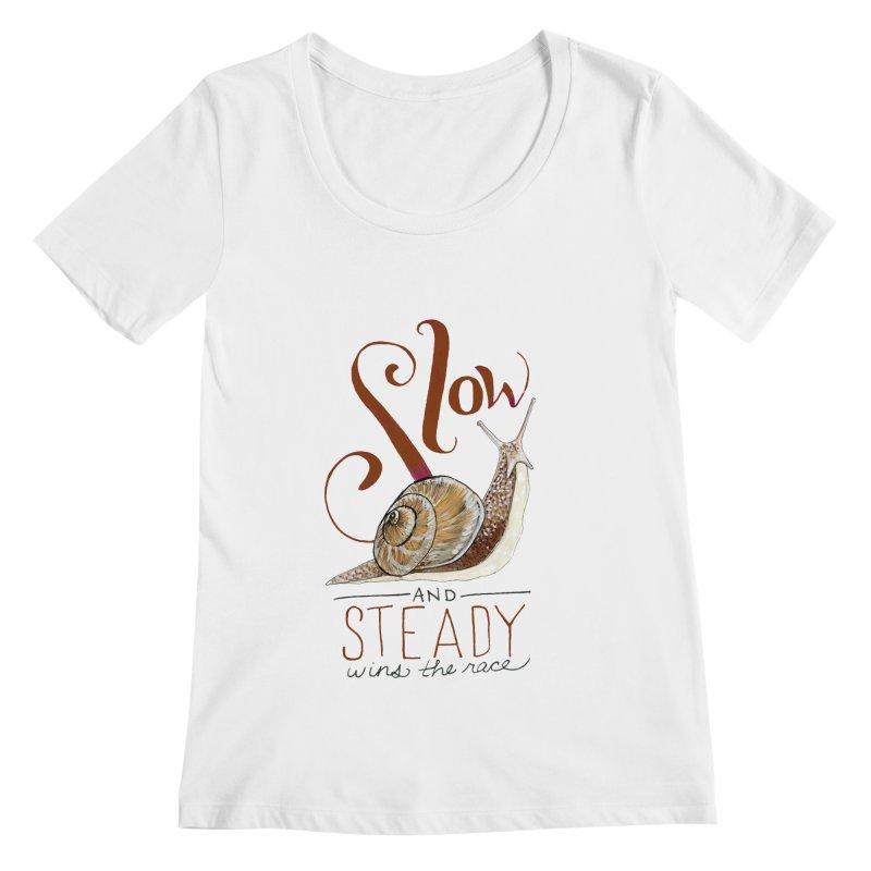 Slow and Steady Women's Regular Scoop Neck by mwashburnart's Artist Shop