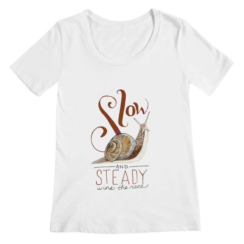 Slow and Steady Women's Regular Scoop Neck by mwashburnart's Artist Shop