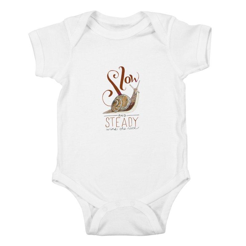 Slow and Steady Kids Baby Bodysuit by mwashburnart's Artist Shop