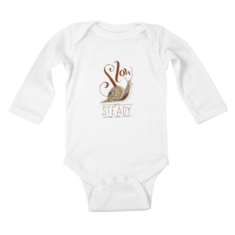 Slow and Steady Kids Baby Longsleeve Bodysuit by mwashburnart's Artist Shop