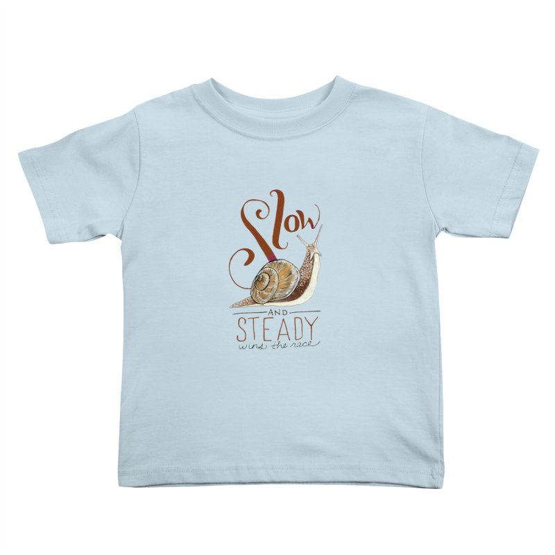 Slow and Steady Kids Toddler T-Shirt by mwashburnart's Artist Shop