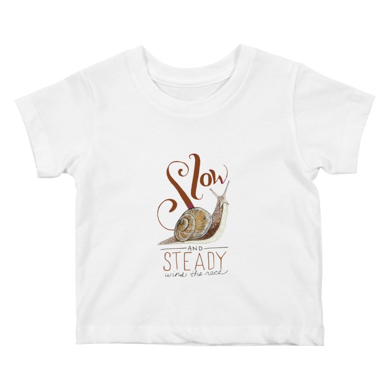 Slow and Steady Kids Baby T-Shirt by mwashburnart's Artist Shop