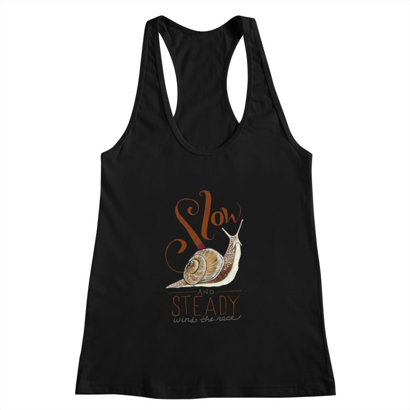 Slow and Steady Women's Racerback Tank by mwashburnart's Artist Shop