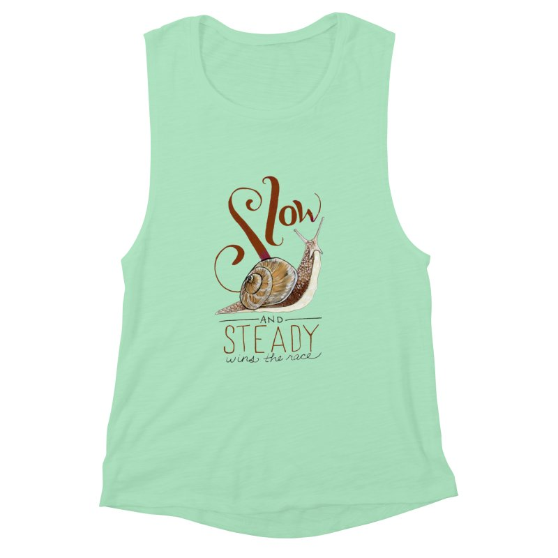 Slow and Steady Women's Muscle Tank by mwashburnart's Artist Shop