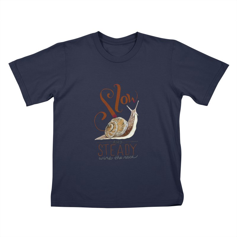 Slow and Steady Kids T-Shirt by mwashburnart's Artist Shop