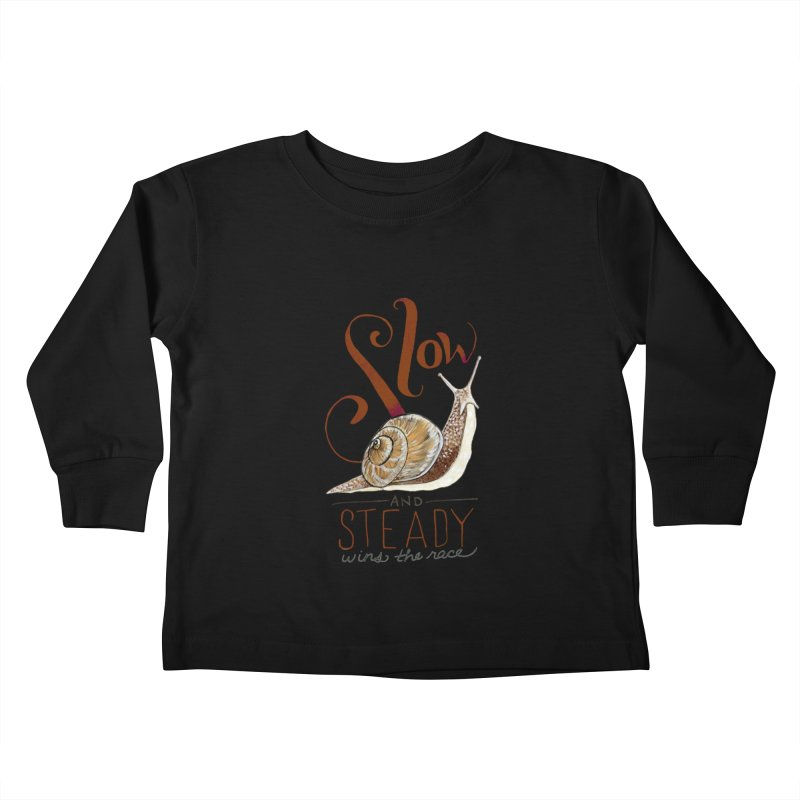 Slow and Steady Kids Toddler Longsleeve T-Shirt by mwashburnart's Artist Shop