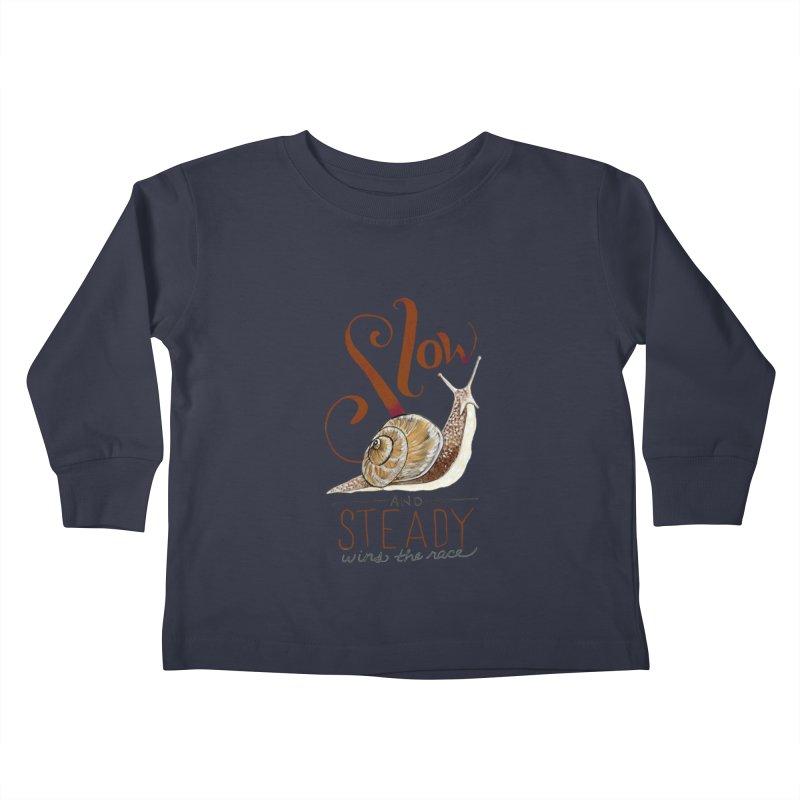 Slow and Steady Kids Toddler Longsleeve T-Shirt by mwashburnart's Artist Shop