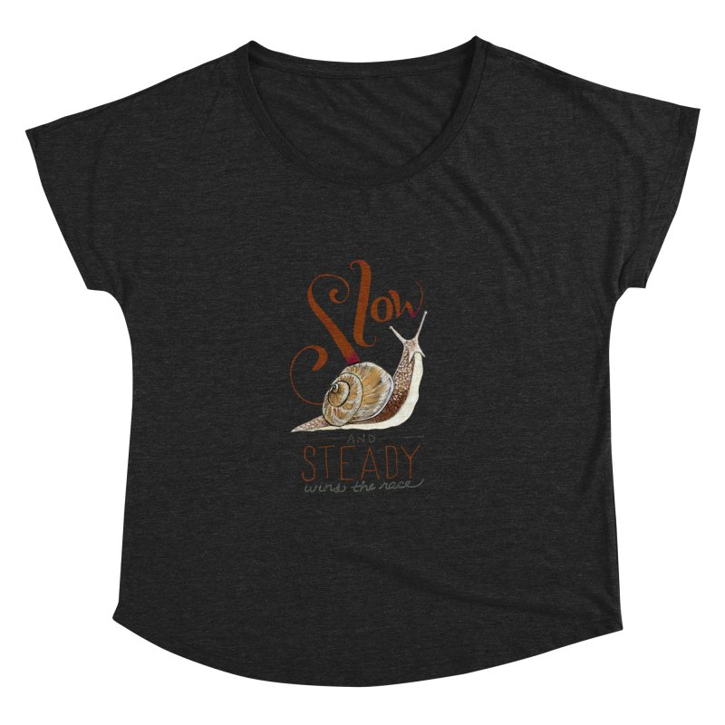 Slow and Steady Women's Dolman Scoop Neck by mwashburnart's Artist Shop
