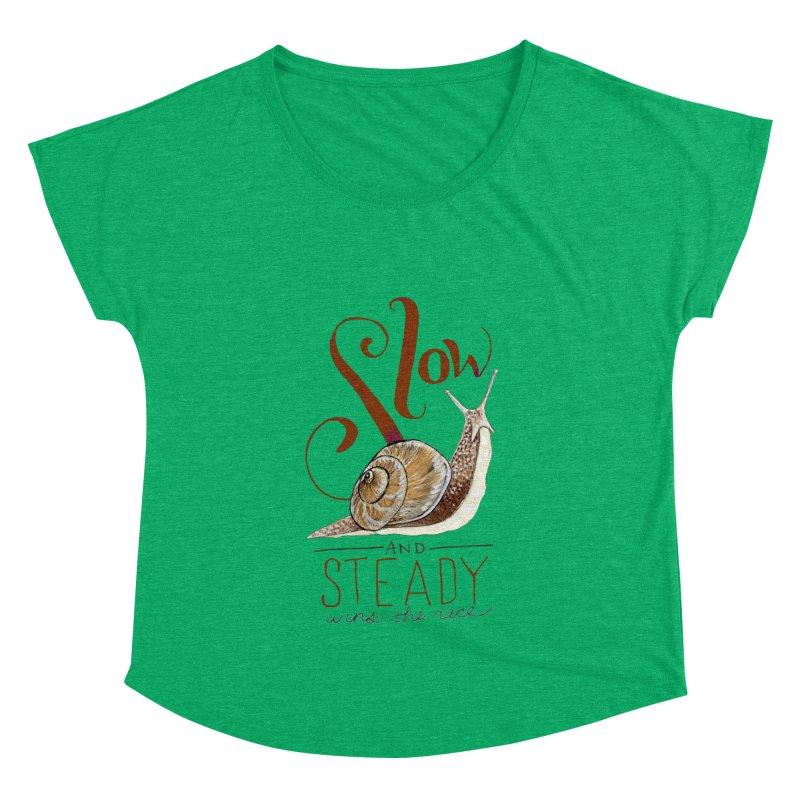 Slow and Steady Women's Dolman Scoop Neck by mwashburnart's Artist Shop