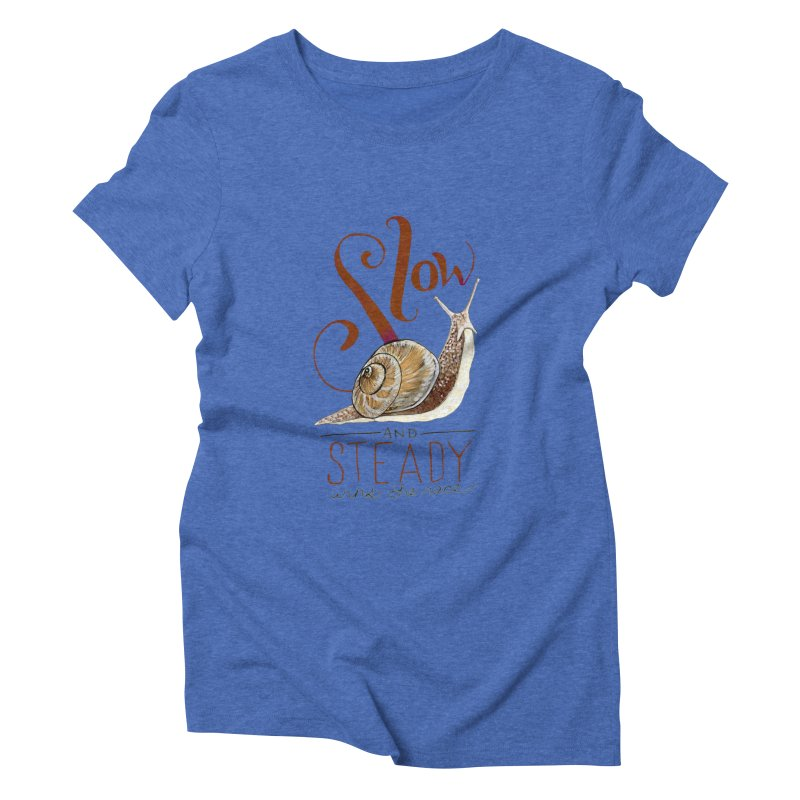 Slow and Steady Women's Triblend T-Shirt by mwashburnart's Artist Shop
