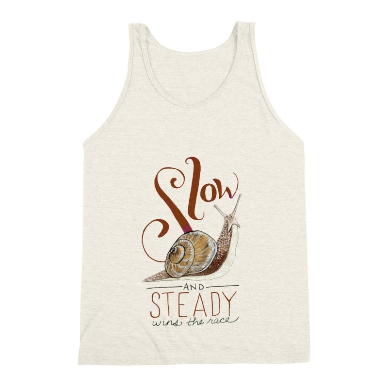 Slow and Steady Men's Triblend Tank by mwashburnart's Artist Shop