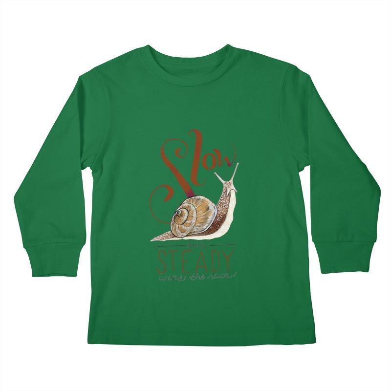 Slow and Steady Kids Longsleeve T-Shirt by mwashburnart's Artist Shop