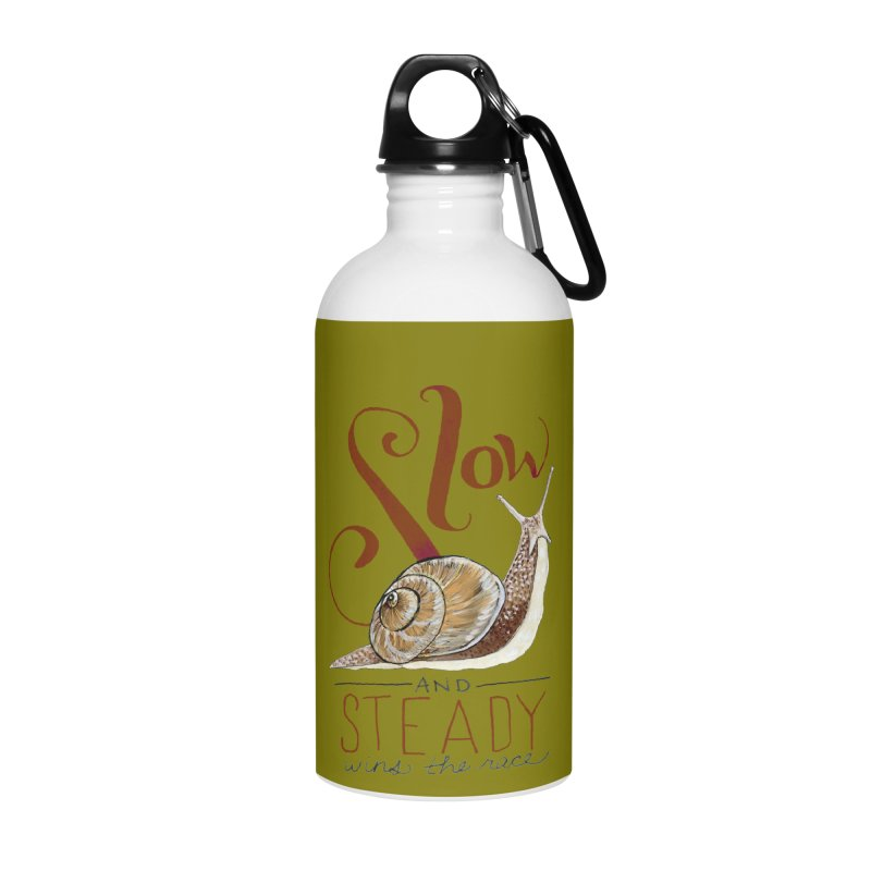Slow and Steady Accessories Water Bottle by mwashburnart's Artist Shop