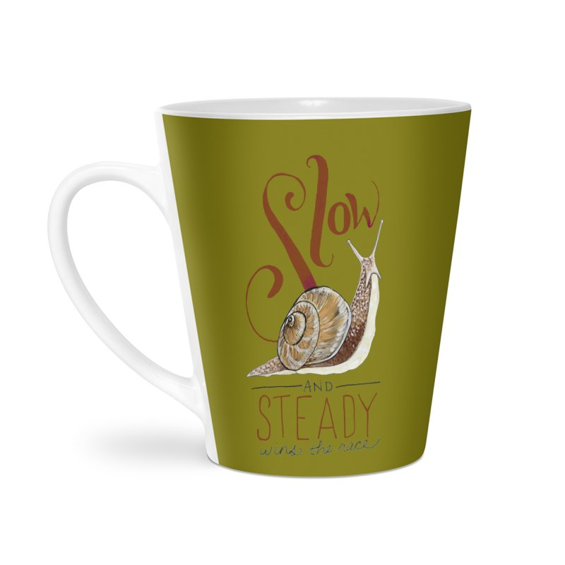 Slow and Steady Accessories Latte Mug by mwashburnart's Artist Shop