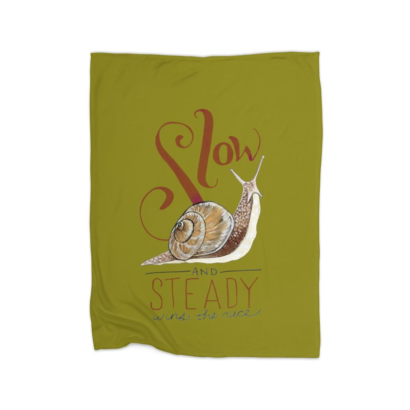 Slow and Steady Home Fleece Blanket Blanket by mwashburnart's Artist Shop