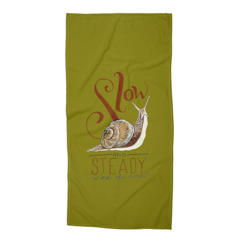 Slow and Steady Accessories Beach Towel by mwashburnart's Artist Shop