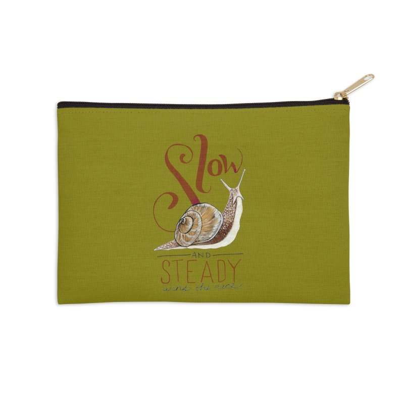 Slow and Steady Accessories Zip Pouch by mwashburnart's Artist Shop