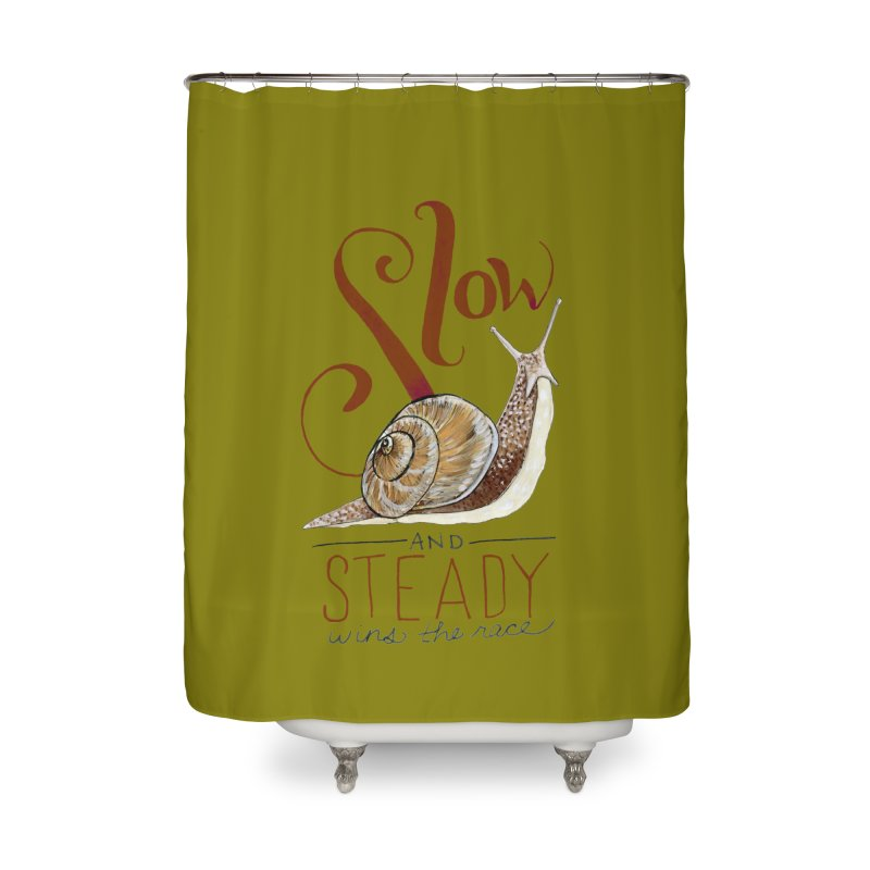 Slow and Steady Home Shower Curtain by mwashburnart's Artist Shop