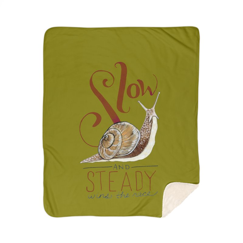 Slow and Steady Home Sherpa Blanket Blanket by mwashburnart's Artist Shop