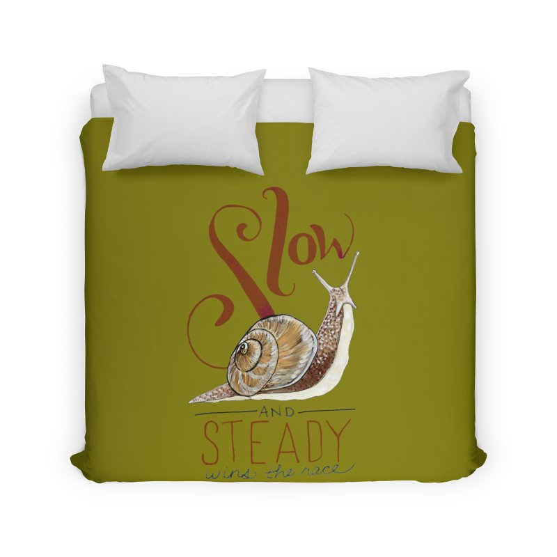 Slow and Steady Home Duvet by mwashburnart's Artist Shop