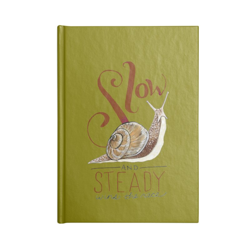 Slow and Steady Accessories Lined Journal Notebook by mwashburnart's Artist Shop