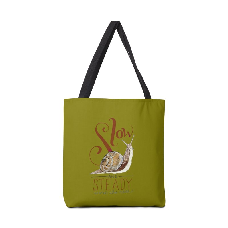 Slow and Steady Accessories Tote Bag Bag by mwashburnart's Artist Shop