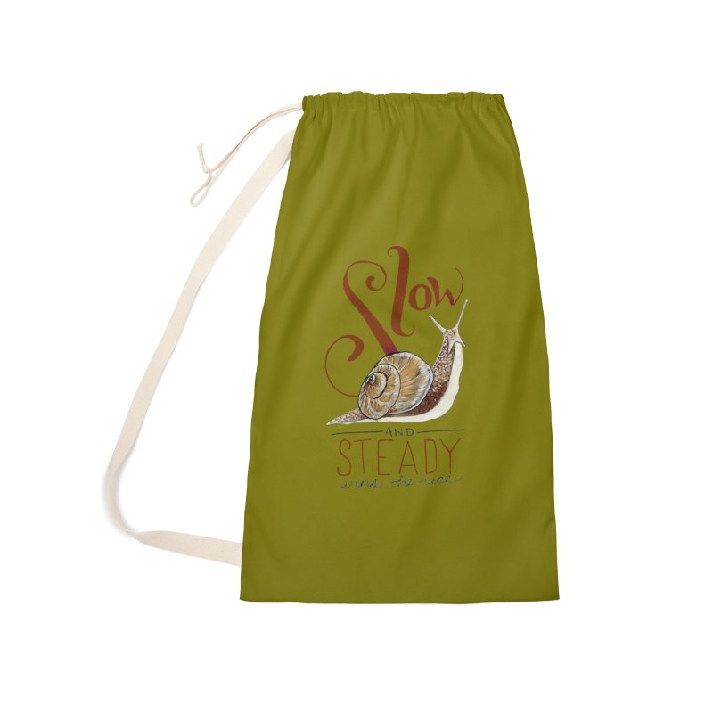Slow and Steady Accessories Laundry Bag Bag by mwashburnart's Artist Shop