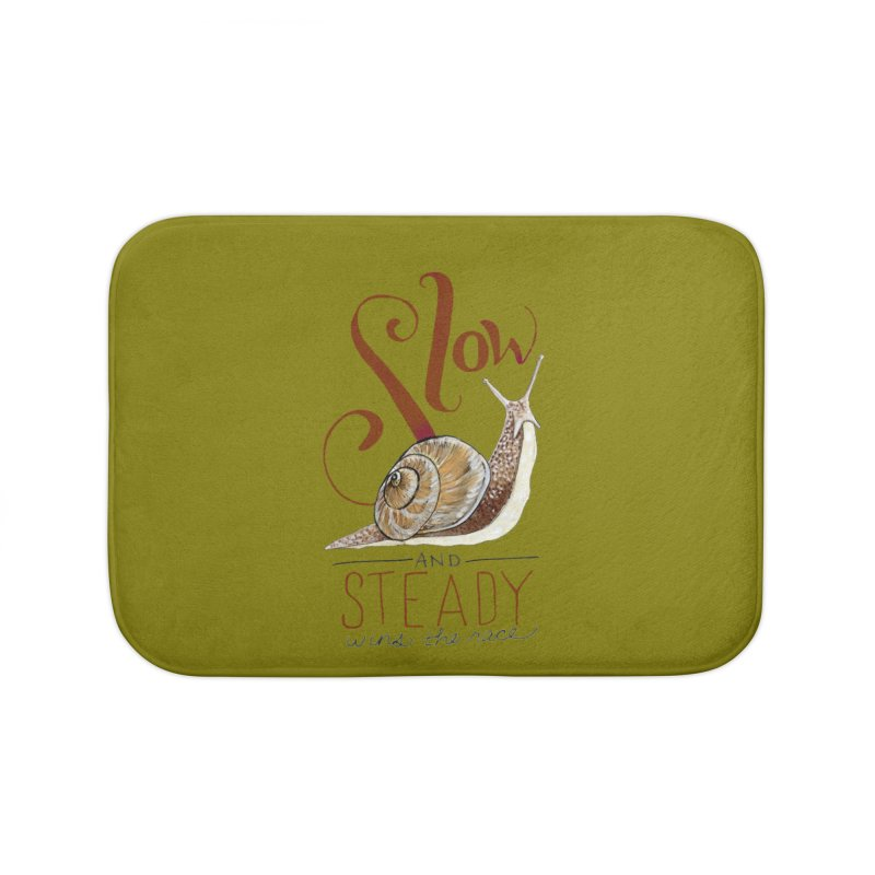 Slow and Steady Home Bath Mat by mwashburnart's Artist Shop