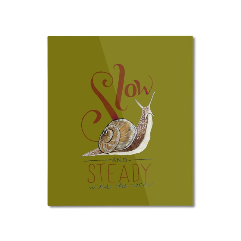 Slow and Steady Home Mounted Aluminum Print by mwashburnart's Artist Shop