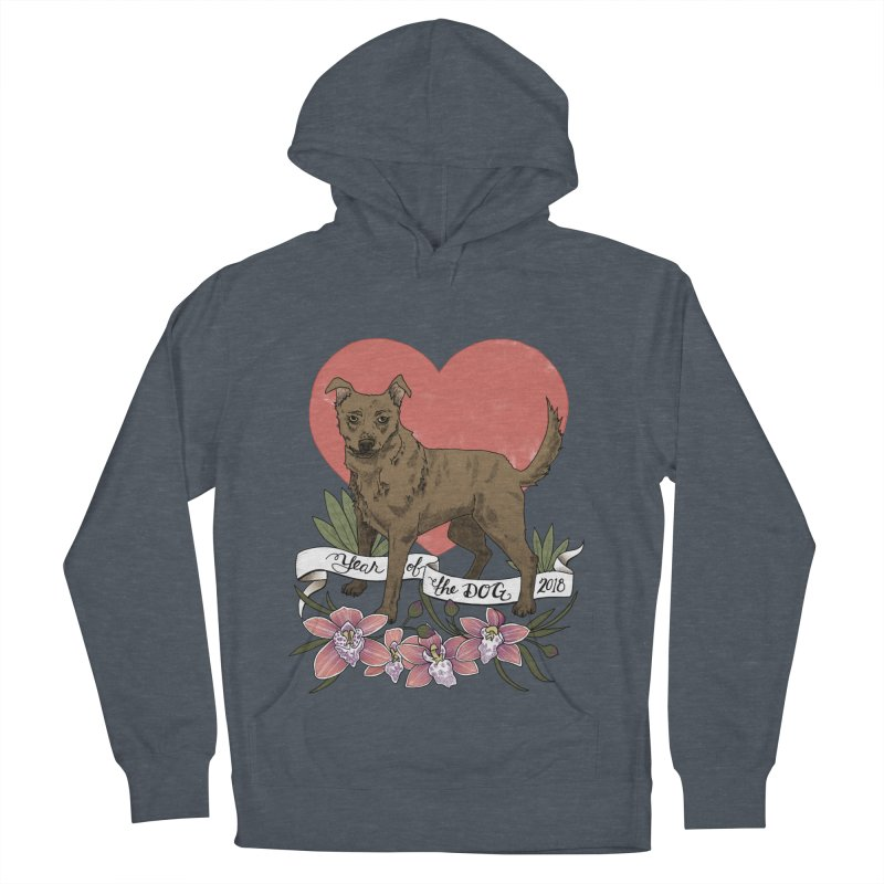 Year of the Dog Women's French Terry Pullover Hoody by mwashburnart's Artist Shop