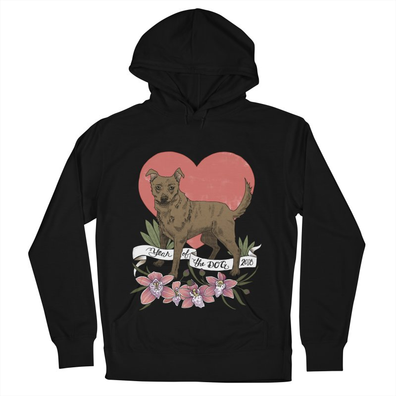 Year of the Dog Men's French Terry Pullover Hoody by mwashburnart's Artist Shop