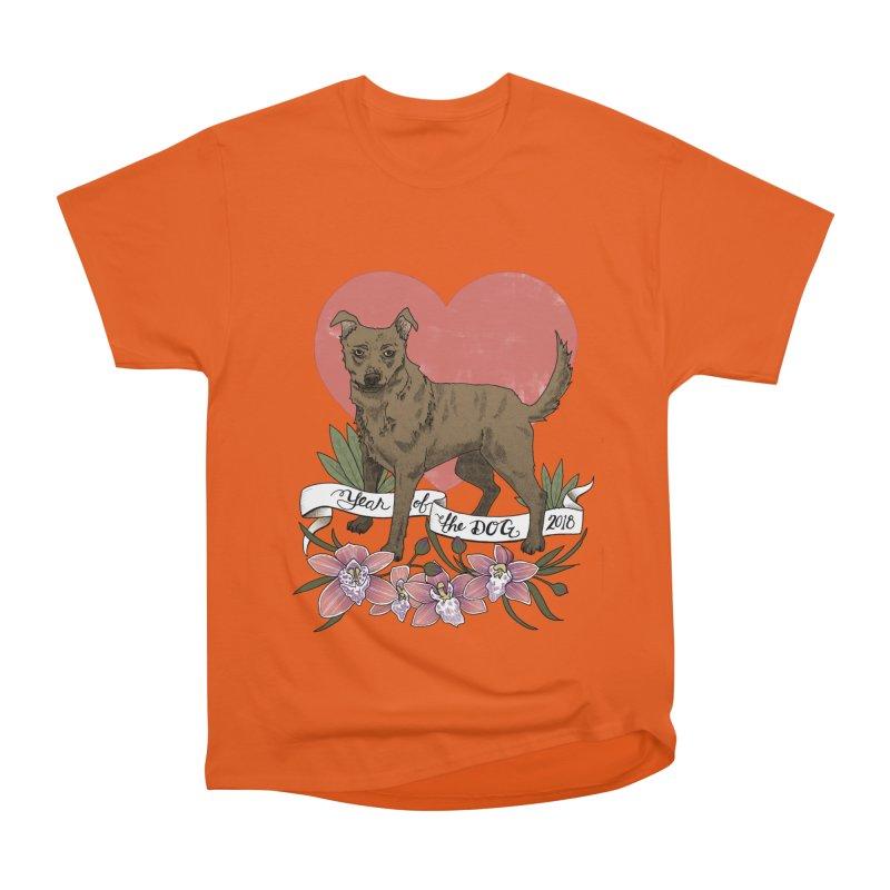 Year of the Dog Men's Heavyweight T-Shirt by mwashburnart's Artist Shop