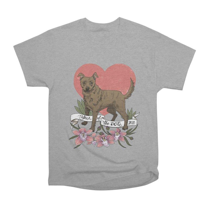Year of the Dog Women's Heavyweight Unisex T-Shirt by mwashburnart's Artist Shop