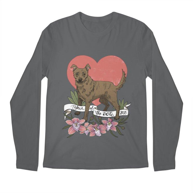 Year of the Dog Men's Regular Longsleeve T-Shirt by mwashburnart's Artist Shop