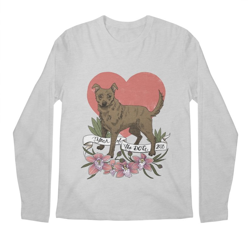 Year of the Dog Men's Regular Longsleeve T-Shirt by mwashburnart's Artist Shop