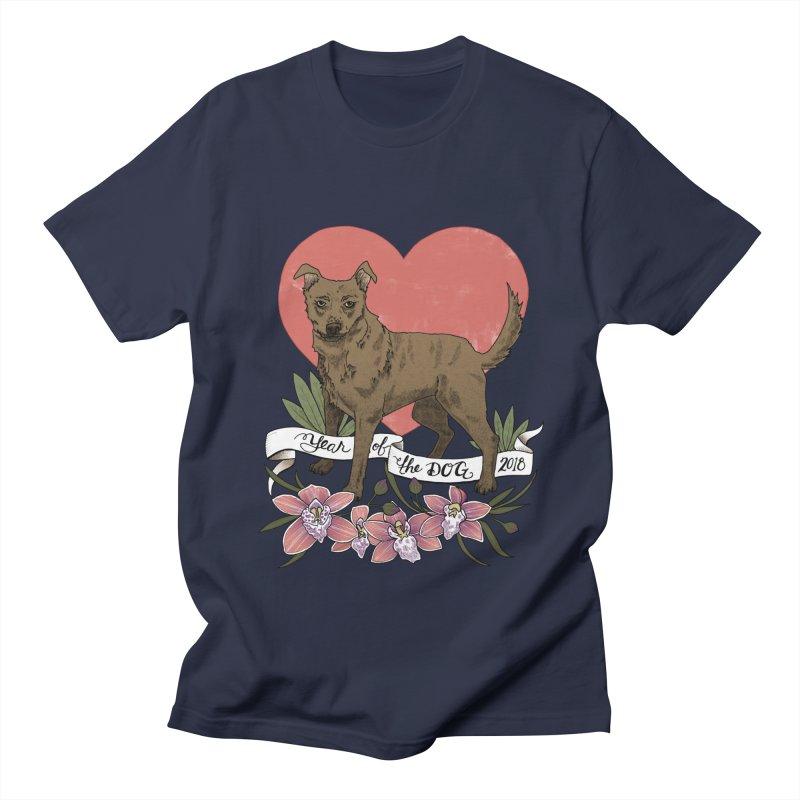Year of the Dog Men's Regular T-Shirt by mwashburnart's Artist Shop