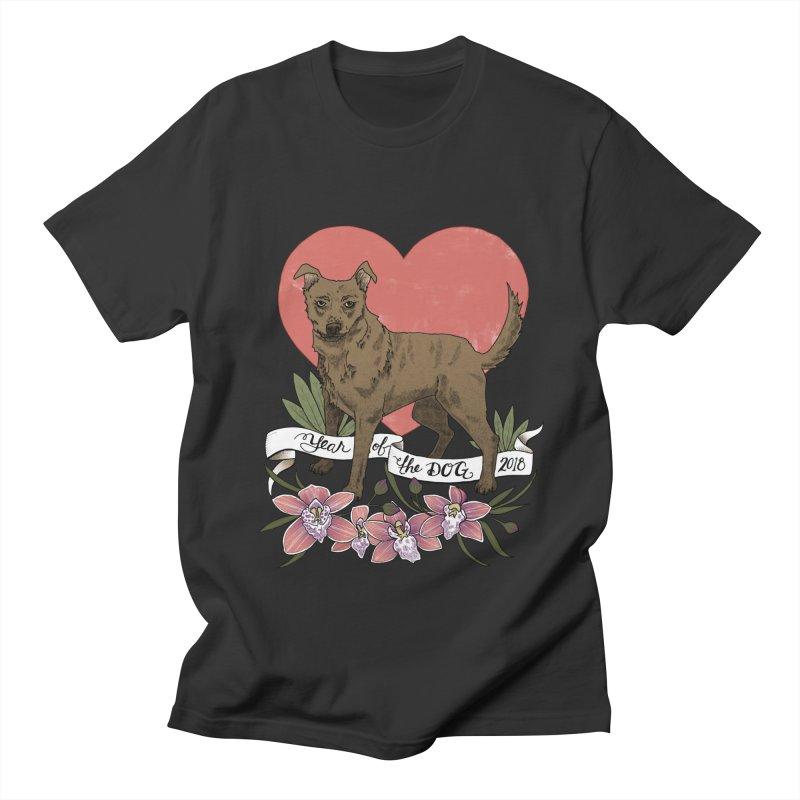 Year of the Dog Women's Regular Unisex T-Shirt by mwashburnart's Artist Shop
