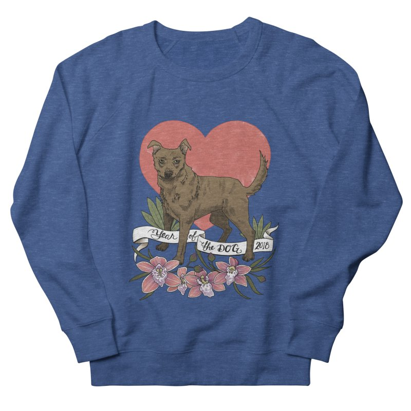 Year of the Dog Women's French Terry Sweatshirt by mwashburnart's Artist Shop