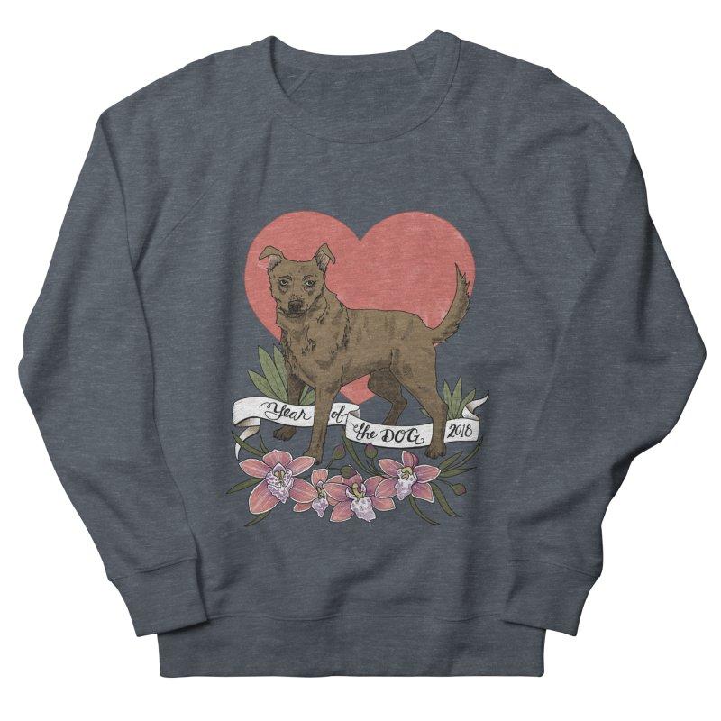 Year of the Dog Women's French Terry Sweatshirt by mwashburnart's Artist Shop