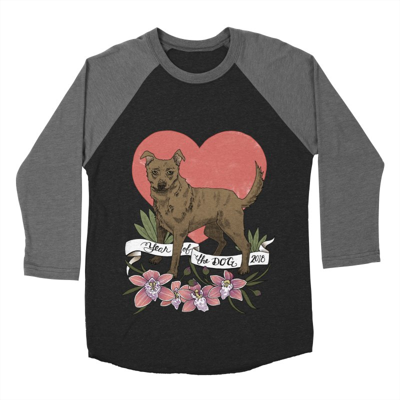Year of the Dog Women's Baseball Triblend Longsleeve T-Shirt by mwashburnart's Artist Shop