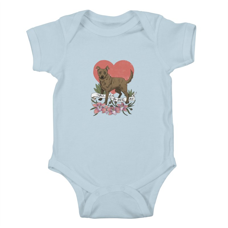 Year of the Dog Kids Baby Bodysuit by mwashburnart's Artist Shop
