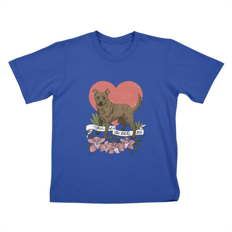 Year of the Dog Kids T-Shirt by mwashburnart's Artist Shop