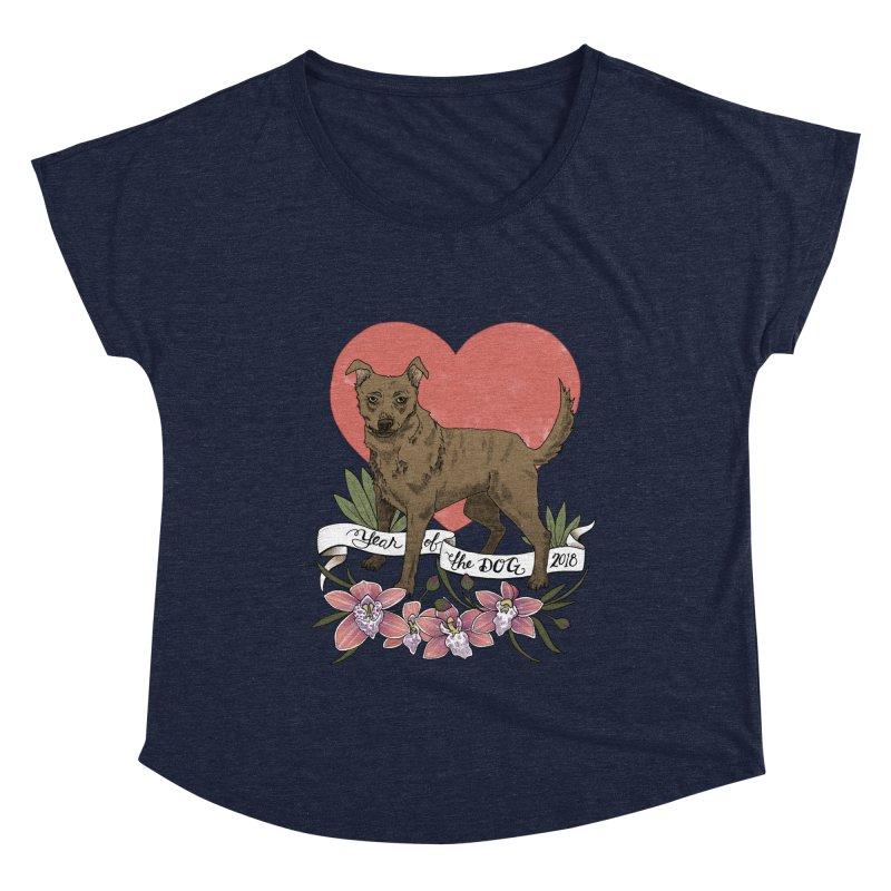 Year of the Dog Women's Dolman Scoop Neck by mwashburnart's Artist Shop