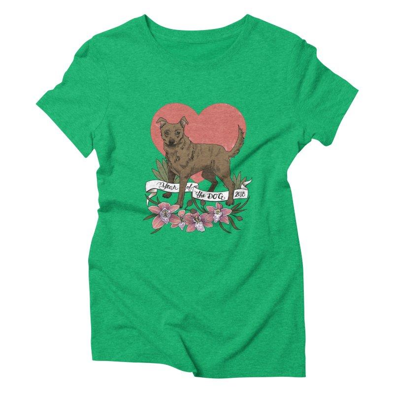 Year of the Dog Women's Triblend T-Shirt by mwashburnart's Artist Shop