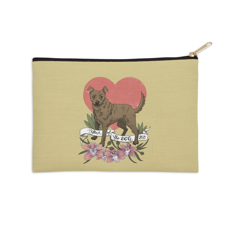 Year of the Dog Accessories Zip Pouch by mwashburnart's Artist Shop