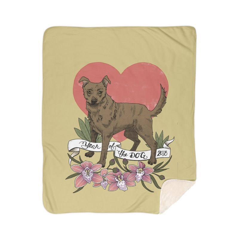 Year of the Dog Home Sherpa Blanket Blanket by mwashburnart's Artist Shop