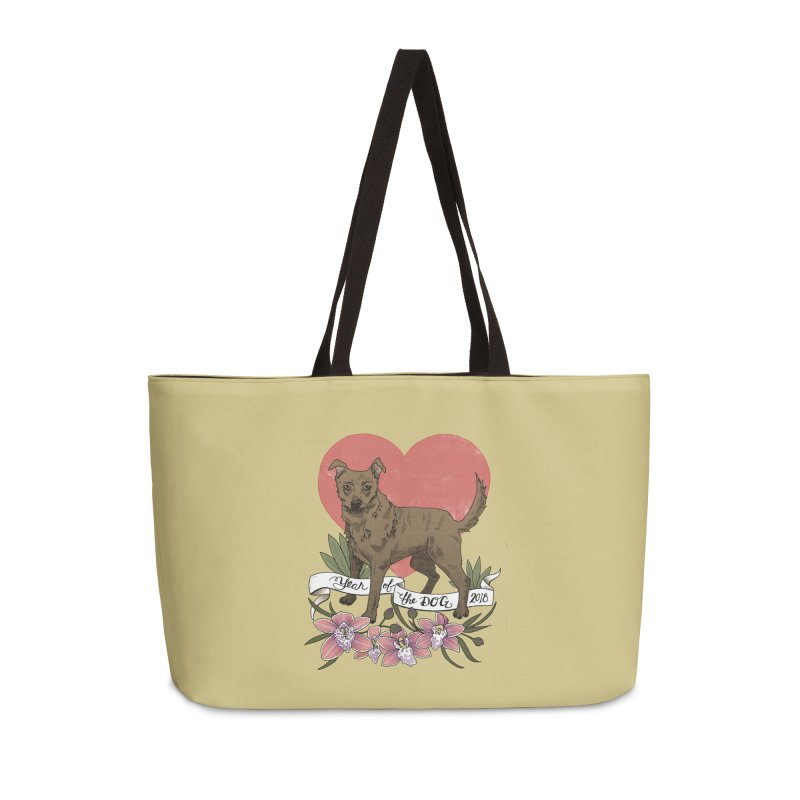 Year of the Dog Accessories Weekender Bag Bag by mwashburnart's Artist Shop