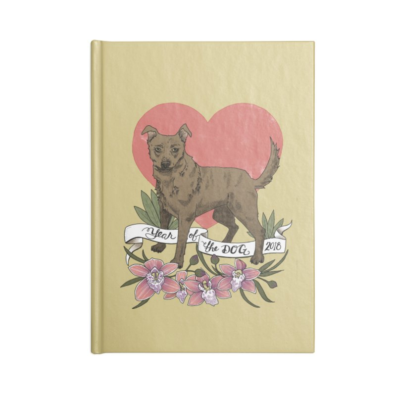 Year of the Dog Accessories Blank Journal Notebook by mwashburnart's Artist Shop