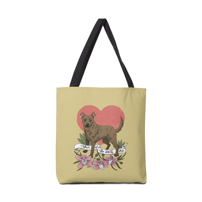Year of the Dog Accessories Tote Bag Bag by mwashburnart's Artist Shop