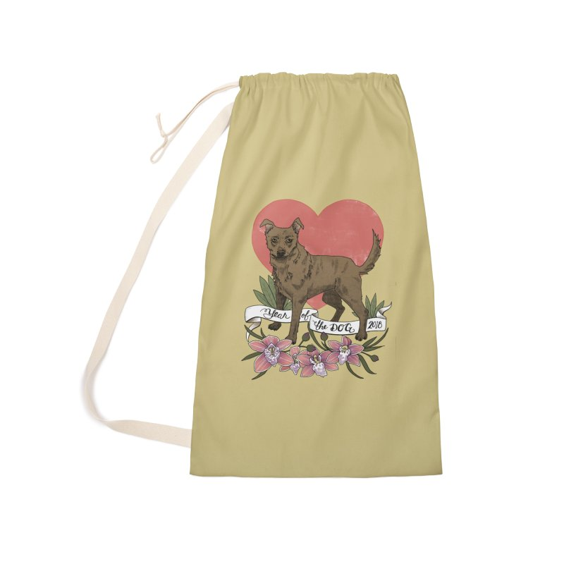 Year of the Dog Accessories Laundry Bag Bag by mwashburnart's Artist Shop